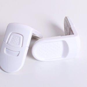 2x skuffelås i hvid