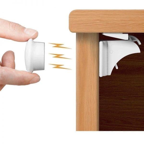 Magnetiske skabslåse - Børnesikring
