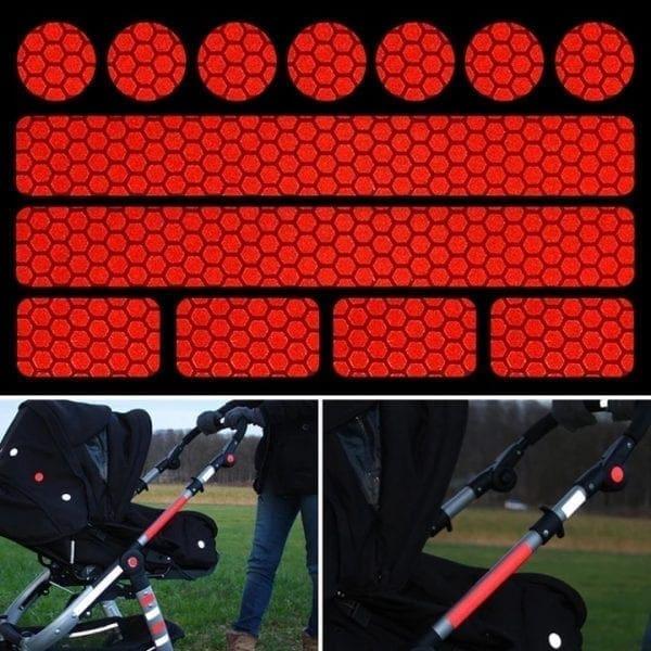 refleksive klistermærker til barnevogn