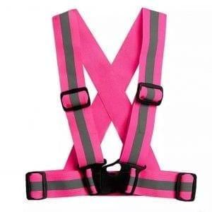 refleksiv vest pink